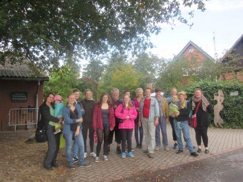 Das Oecotop-Team auf dem Hof Kaemena