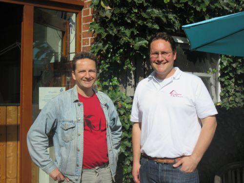 (vrnl) Harje Kaemena und Dieter Vogt-Miska teilen eine Auffassung von Nachhaltigkeit, Genuss und gesunder Ernährung.