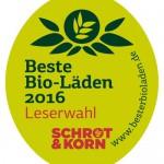 """Logo für Umfrage """"Beste Bio-Läden 2016"""""""