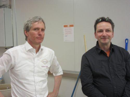 Backstuben Gründer Rainer Knoll und Dieter Vogt-Miska vom Oecotop in der Backstube