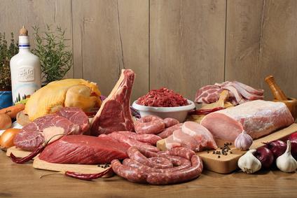 Beispiel für diverse Fleischgerichte