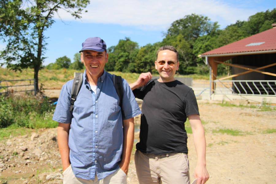 Wolfgang Maronde (Naturkost Elkershausen) und Dieter Vogt-Miska vom Oecotop in Berwiller